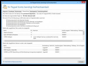 Screenshot NoSpamProxy Spyware Warnung