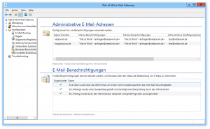 Screenshot NoSpamProxy MMC Integration, Administration