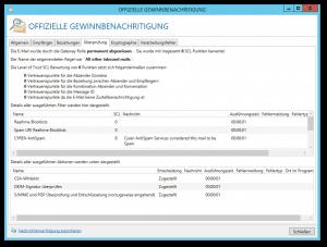 Screenshot NoSpamProxy Spam-Warnung