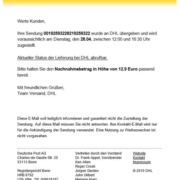 DHL Spam Mail - Mit NoSpamProxy blocken, Anti Spam, Anti Malware