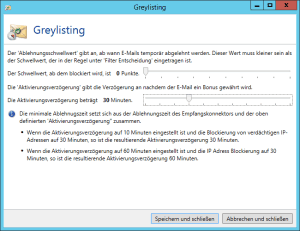 Screenshot Greylisting