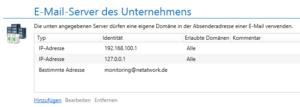 E-Mail-Server des Unternehmens