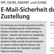 SPF, DKIM, DMARC und DANE: E-Mail-Sicherheit durch Senderreputation