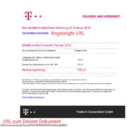 Emotet Telekom Rechnung Fake