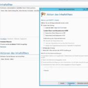 Einrichtung Inhaltsfilter E-Mail-Sicherheit, Anti Spam, Anti Malware, Anti Ransomware
