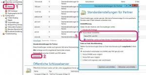 Inhaltsfilter Standardeinstellungen für Partner