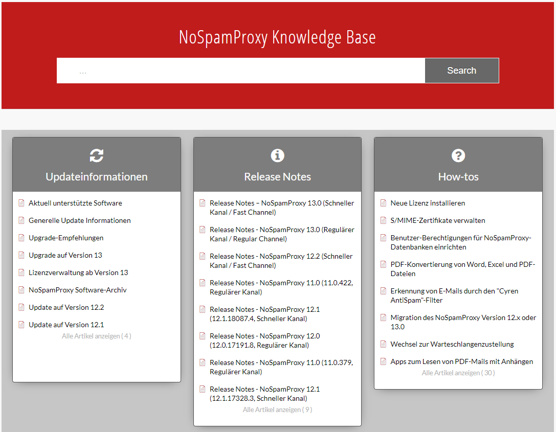 NoSpamProxy Knowledge Base