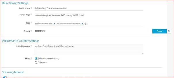 NoSpamProxy Performance Counter für PRTG