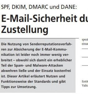 SPF, DKIM, DMARC und DANE: E-Mail-Sicherheit durch geschützte Zustellung