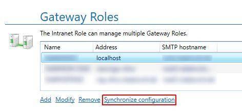 Synchronize configuration