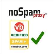 Virus Bulletin Zertifikat NoSpamProxy