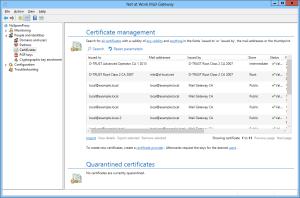 Gateway Certificate management
