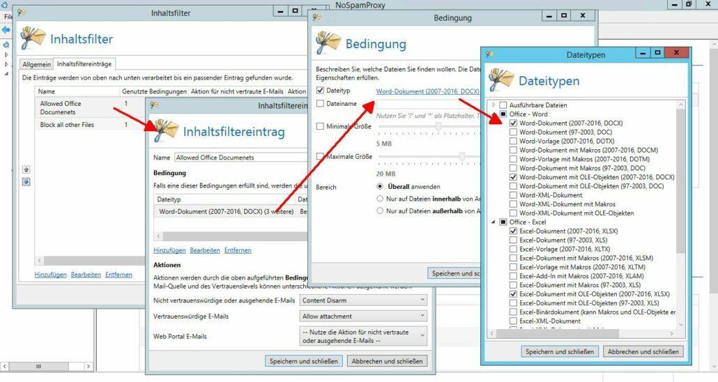 Erlaubte Dateiformate bestimmen