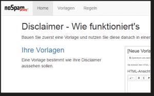 NoSpamProxy Disclaimer Screenshot Wie funktioniert's