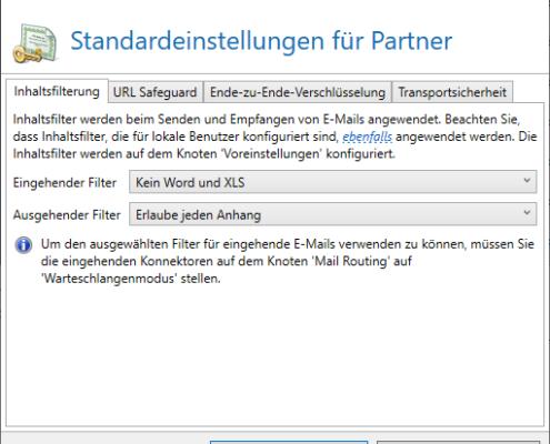 Inhaltsfilter für Partner