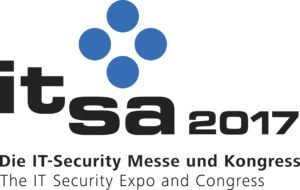 Logo it-sa 2017 - Die IT-Security Messe und Kongress.