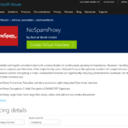 Screenshot Microsoft Azure NoSpamProxy Marketplace